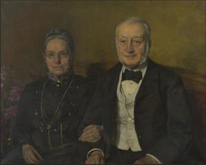 Dubbelportret Ludwig August Eberhard Suermondt (1834-1925) en Hendrika Adriana Kolff (1835-1927)