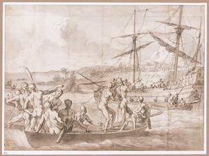 Jan Staden gevangen door de Tupim Imbas (?)