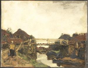 Het houten bruggetje