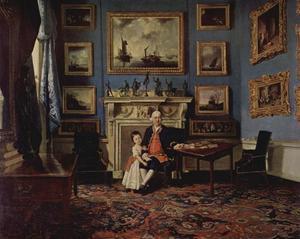 Portret van Sir Lawrence Dundas (c. 1710–81) met zijn kleinzoon Lawrence (1766–1839)