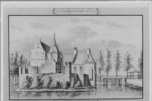 Linker- en voorzijde van de ridderhofstad Rhijnauwen bij Bunnik