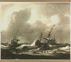 Schipbreuk voor de kust