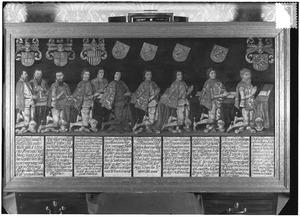 Groepsportret van Jan van den Boetzelaer en zijn voorouders uit het geslacht Van Renesse