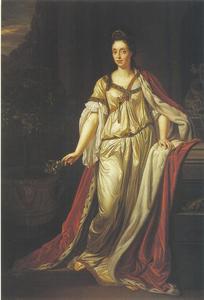 Portret van Anna Maria Luisa de Medici, keurvorstin van de Palts