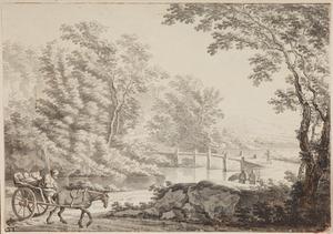 Landschap met de Ponte Acquoria in de buurt van Tivoli