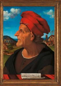 Portret van Francesco Giamberti (1405-1480), vader van de architect Giuliano da Sangallo