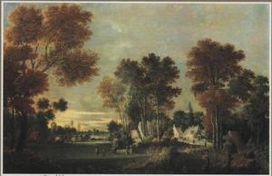 Boomrijk polderlandschap met een dorp