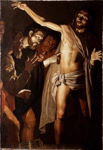 De ongelovige Thomas beroert de zijdewond van Christus