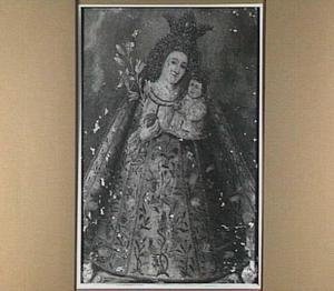 Madonna met gekroond Christuskind en bol met lelie