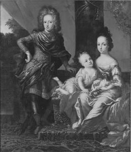 Portret van koning Karl XII (1682-1718) en zijn zussen