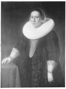 Portret een vrouw, waarschijnlijk Hillegonda van Goch ( -1649)