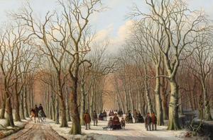 Wintergezicht in het Haagse Bos