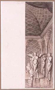 Biddende cherubijnen bij de ark van het verbond in de tempel van Salomon