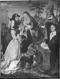 Maria met kind, heiligen en een stichter