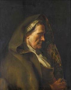 Tronie van een oude vrouw