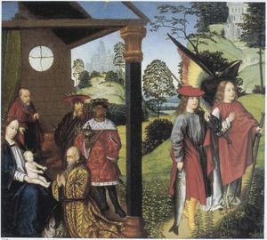 De aanbidding van de Wijzen en Tobias en de aartsengel Rafaël op weg naar Ekbatana