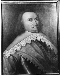 Portret van Gerrijt van Teylingen, kapitein in het Noord-Hollands regiment
