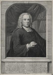 Portret van Wilhelmus van Eenhoorn (1691-1759)