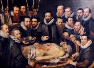 Anatomische les van Dr. W. van der Meer, Delft, 1617