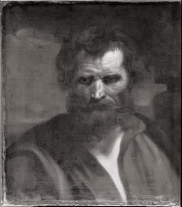 Studiekop van de apostel Simon