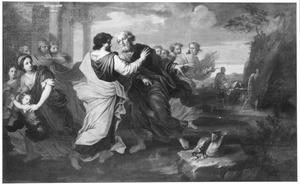 Abraham betaalt de Hethiet Efron vierhonderd zilveren sikkels voor de grot te Makpela om Sara in te begraven (Genesis 23:16-20)