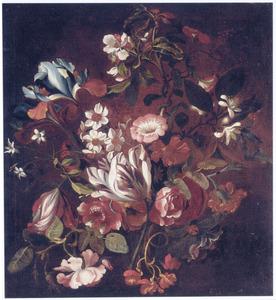Stilleven met tulpen, narcissen en andere bloemen