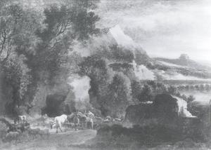 Berglandschap met koeien