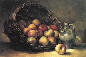Mand met appels (authentiek)