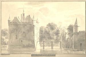 Kasteel Doornenburg in Bemmel, van terzijde