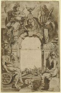 Ontwerp voor de titelpagina voor J. Lipsius, Opera Omnia, I, Antwerpen 1637