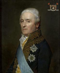 Portret van Jonkheer Adriaen Pieter Twent (1745-1816), Graaf van Rosenburg, Minister van Waterstaat, Minister van Binnenlandse Zaken, kamerheer van koning Lodewijk Napoleaon