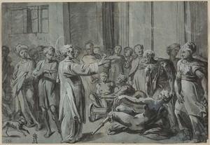 Genezing van de zieken door een heilige