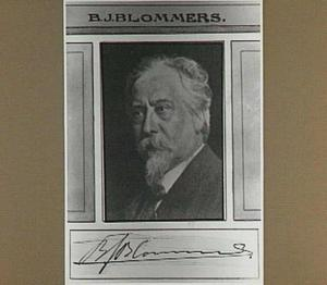 Portret van Bernardus Johannes Blommers