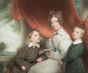 Portret van de kinderen van Marten Adriaan Beels (1790-1859) en Charlotte Christine Gildemeester (1793-1839)
