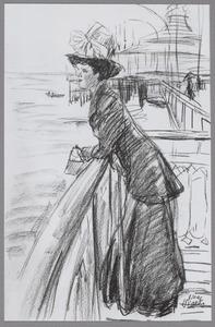 Dame op de Pier in Scheveningen