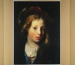 Portret van een jongen met baret