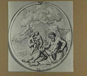 Allegorie op de rivier de Maas