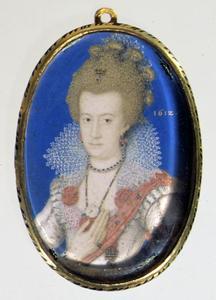 Portret van Koningin Anna Catharina van Denemarken (1575-1612)