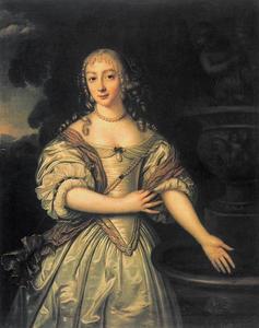 Portret van een vrouw, mogelijk Sophia Amalia van Nassau-Siegen (1650-1688)