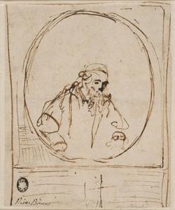 Postuum portret van Jan Cornelisz. Sylvius (1563 of 1565-1638)
