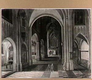 Interieur van een katholieke kerk