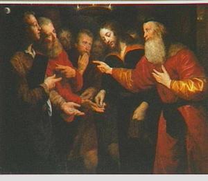 Christus en de belasting van de keizer (Mattheus 22:19)