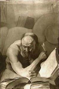 De H. Hieronymus in zijn studeervertrek (?)