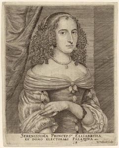 Portret van Elisabeth prinses van de Palts (1618-1680)