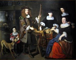 Portret van een familie uit Straatsburg