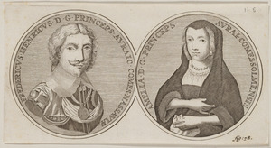 Portret van Frederik Hendrik van Oranje-Nassau (1584-1647) en portret van Amalia van Solms (1602-1675)