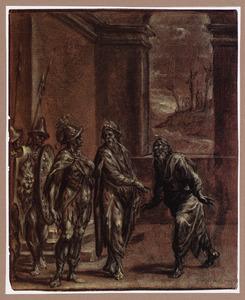 Josef van Arimathea verzoekt Pilatus om het lichaam van Christus