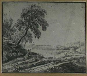 Panoramisch heuvellandschap