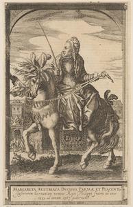 Ruiterportret van Margaretha van Habsburg (1522-1586
