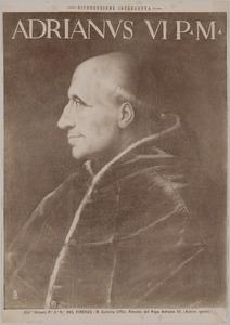 Portret van Adriaan Florisz. Boeyens (1459-1523) als paus Adrianus VI